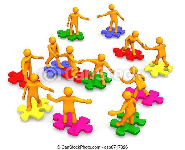 compagnie, collaboration, business - csp6717326