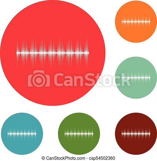 compensateur, ensemble, icônes, vecteur, numérique, cercle - csp54502360