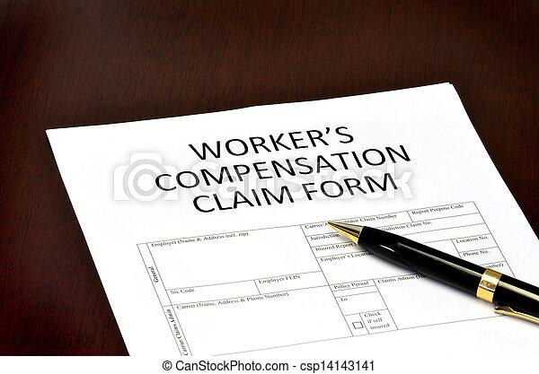 compensation, ouvrier, formulaire - csp14143141