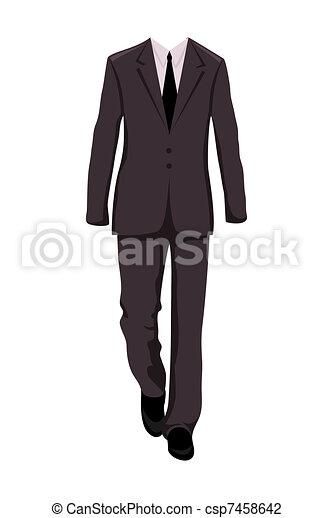 complet, éléments conception, mâle, business - csp7458642