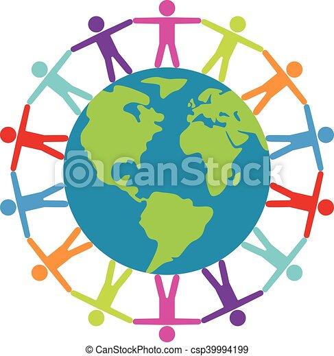concept, autour de, gens, voyage, paix, vecteur, ou, mondiale - csp39994199