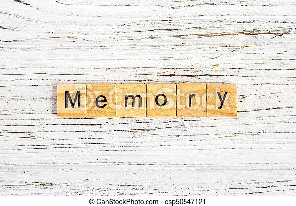 concept, blocs, bois, fait, mémoire, mot - csp50547121