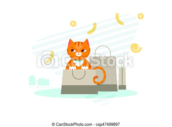 concept, chasse, chat - csp47499897
