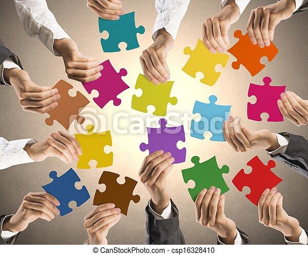 concept, collaboration, intégration - csp16328410