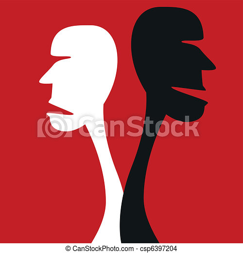 concept., désaccord, humain - csp6397204