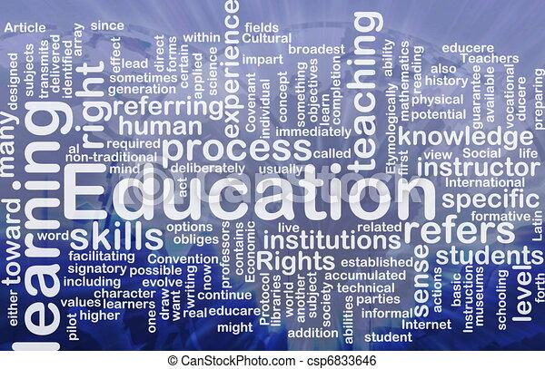 concept, education, fond - csp6833646
