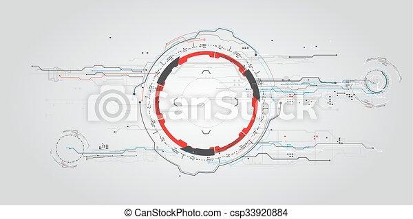concept, hud., virtuel, toucher, graphique, interface utilisateur, futuriste - csp33920884
