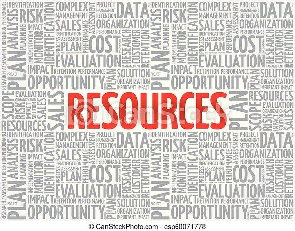 concept, mot, nuage, ressources, étiquette - csp60071778