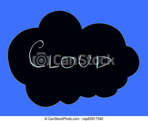 concept, nuage, calculer - csp63917340