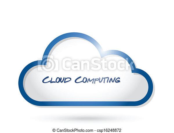 conception, nuage, illustration, calculer - csp16248872