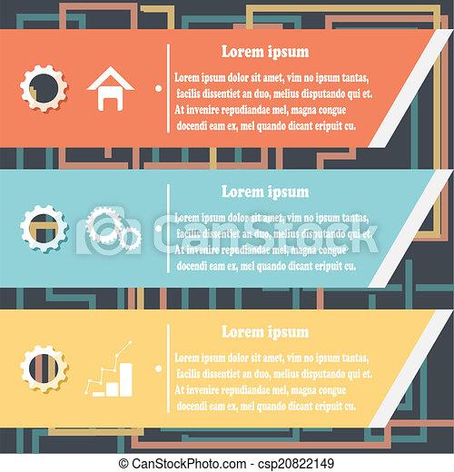 conception, raies, fullcolor, infographics - csp20822149