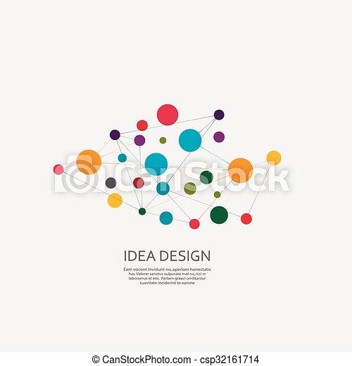 conception, vecteur, relier - csp32161714