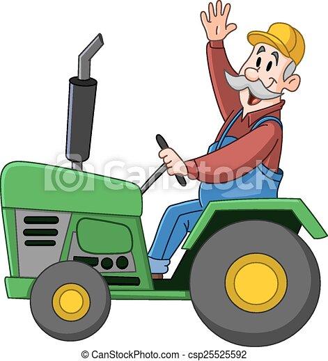 conduite, tracteur, paysan - csp25525592