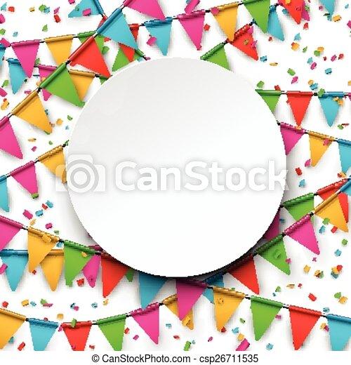 confetti, arrière-plan., célébration - csp26711535