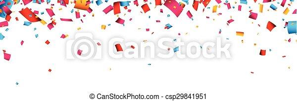 confetti, banner., célébration - csp29841951