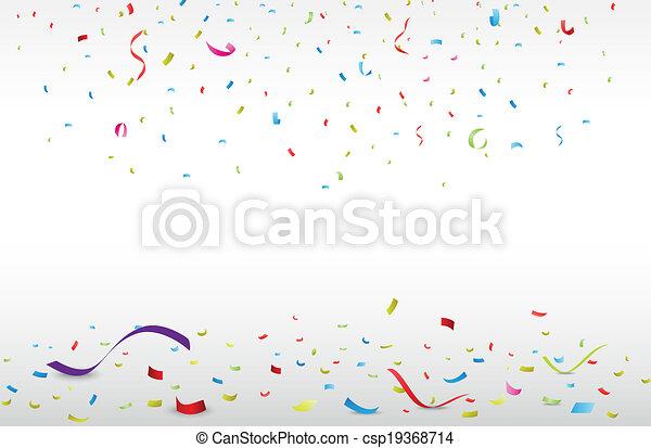confetti, coloré, célébration - csp19368714