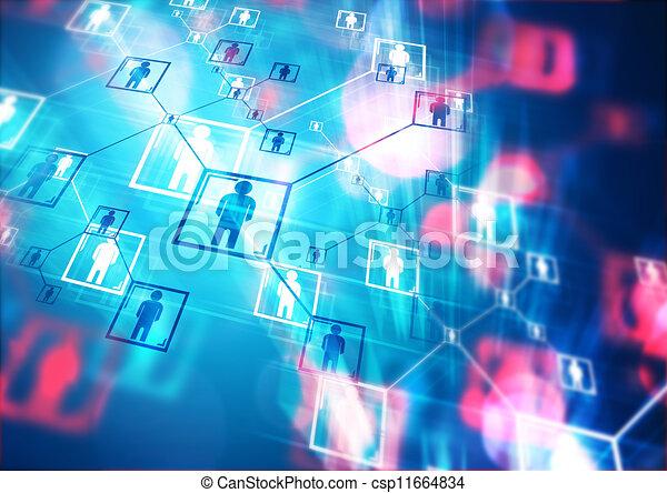 connecté, gens - csp11664834