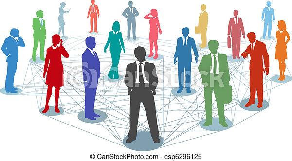 connexions, gens, réseau, business, relier - csp6296125