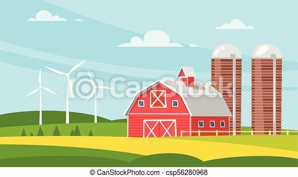 construction ferme, rural, -, grange - csp56280968