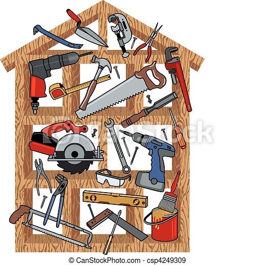 construction, maison - csp4249309