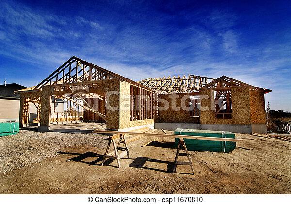 construction maison, nouveau - csp11670810