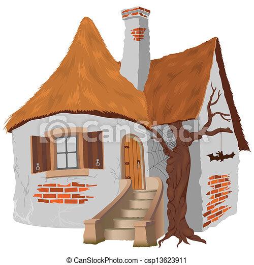 conte, petite maison, fée - csp13623911