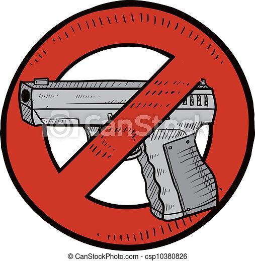 contrôle, croquis, fusil - csp10380826