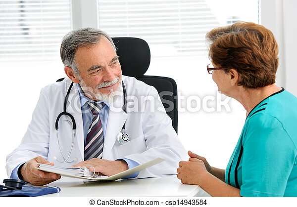 conversation, sien, patient, docteur féminin - csp14943584
