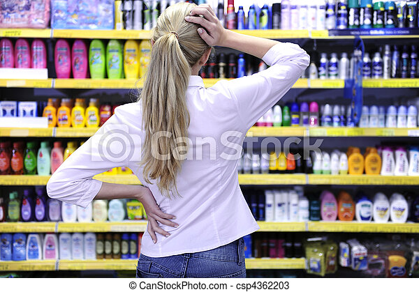 costumer, produit, achats, choisir, supermarché - csp4362203