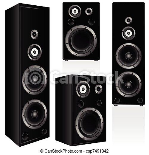 couleur, orateur, vecteur, noir, illustration - csp7491342