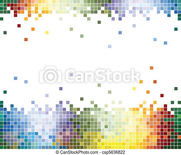couleur, résumé, pixels, fond - csp5636822