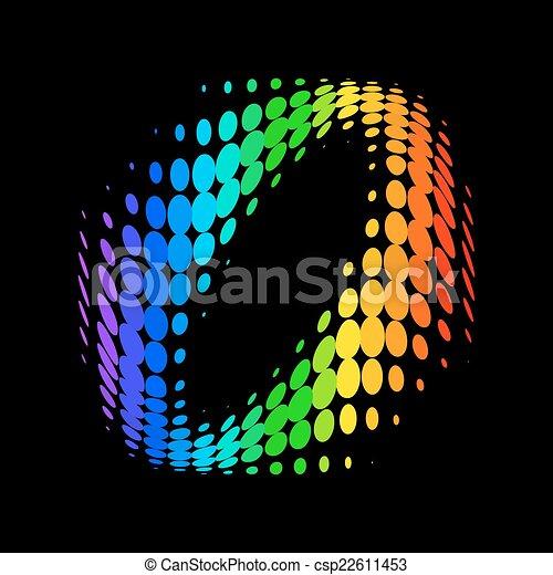 couleur, vecteur, point, fond - csp22611453