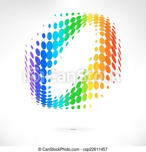 couleur, vecteur, point, fond - csp22611457