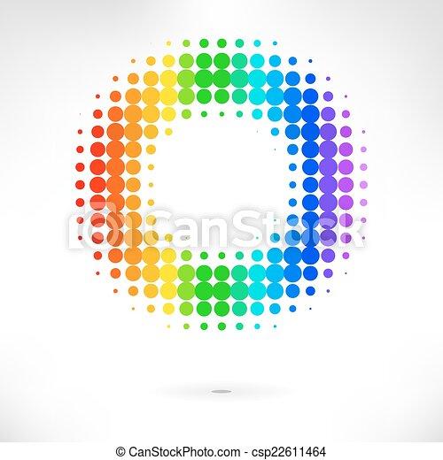 couleur, vecteur, point, fond - csp22611464