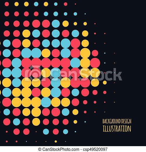 couleur, vecteur, point, fond - csp49520097