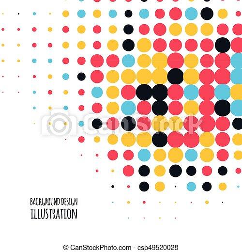 couleur, vecteur, point, fond - csp49520028