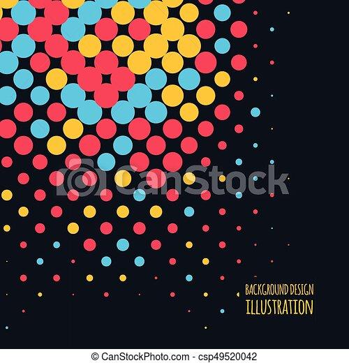 couleur, vecteur, point, fond - csp49520042