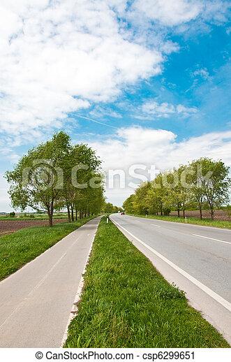 couloir, vélo, route - csp6299651