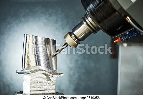 coupeur, découpage, cnc, moudre, moulin, process., metalwork, usinage - csp40519356