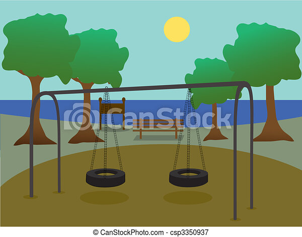 cour de récréation, parc - csp3350937