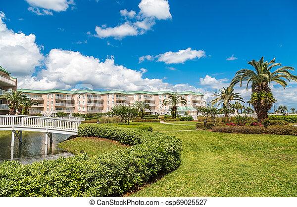 cour, landscaping, copropriété, côtier - csp69025527