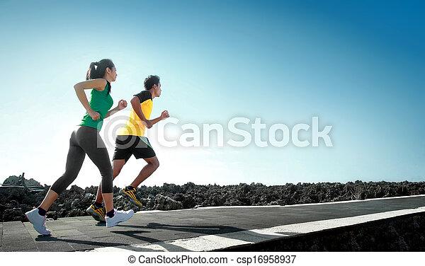 courant, sport plein air, gens - csp16958937