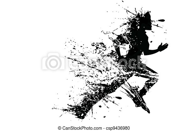 coureur, splashy - csp9436980