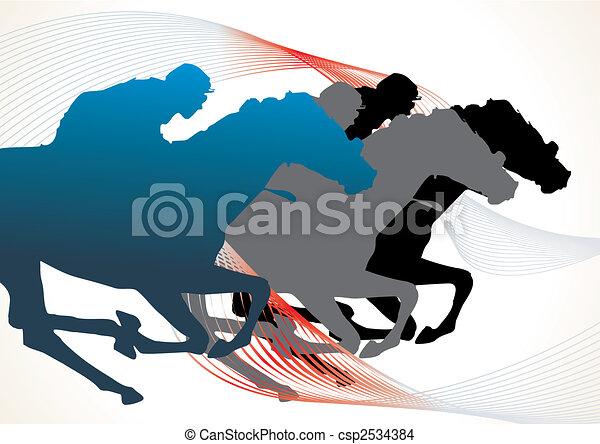 course chevaux - csp2534384