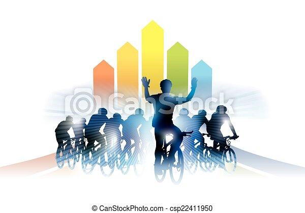 course, vélo - csp22411950