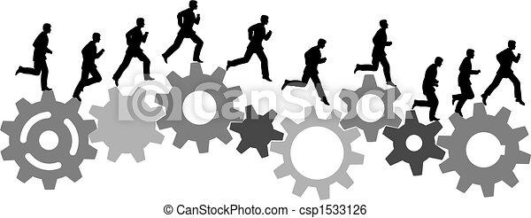 courses, industriel, machine bureau, engrenages, hâte, homme - csp1533126