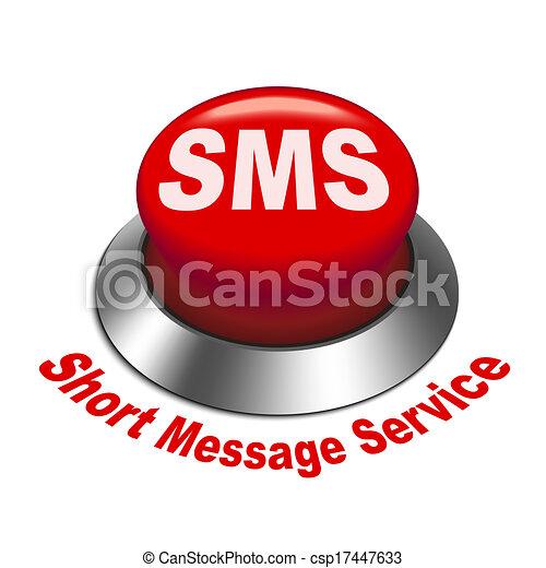 court, service, ), (, bouton, sms, illustration, message, 3d - csp17447633