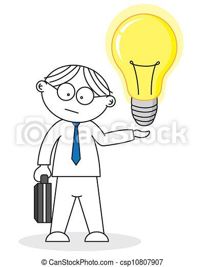 créatif, idée, avoir - csp10807907