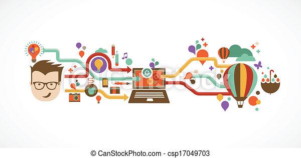 créatif, infographic, conception, idée, innovation - csp17049703