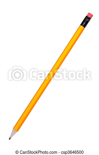 crayon, blanc, isolé - csp3646500